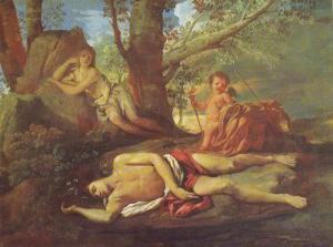 'Écho et Narcisse' by Nicolas Poussin